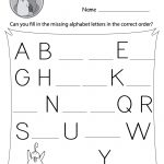 Missing Letter Worksheets (Free Printables)   Doozy Moo   Free Printable Letter Worksheets