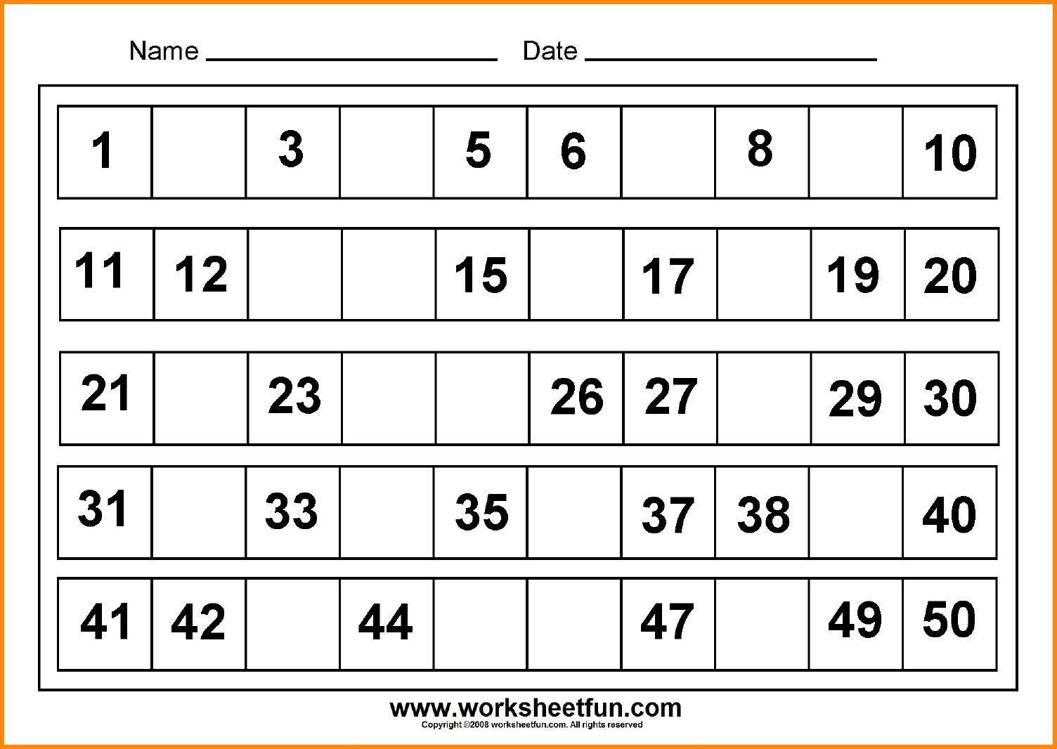 Missing Numbers Worksheets. Number. Alistairtheoptimist Free - Free Printable Missing Number Worksheets
