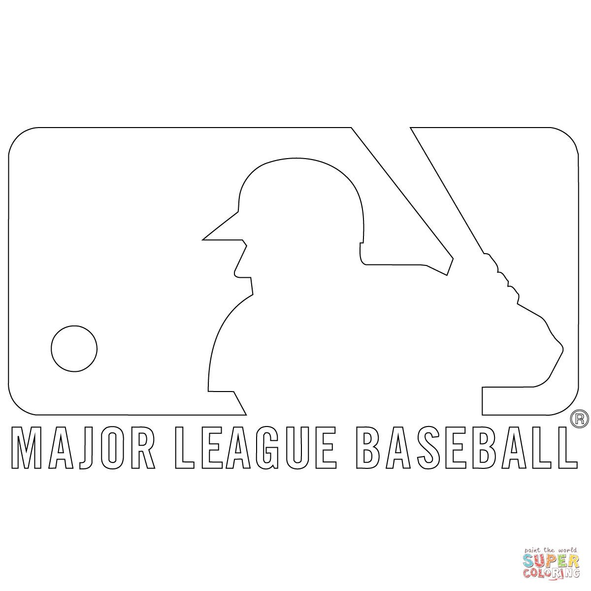 Mlb Logo Coloring Page   Free Printable Coloring Pages - Free Printable Baseball Logos