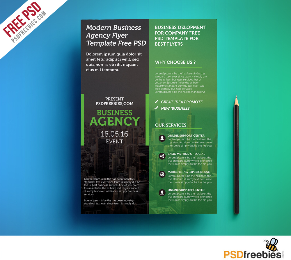 Modern Business Agency Flyer Template Free Psd - Download Psd - Business Flyer Templates Free Printable
