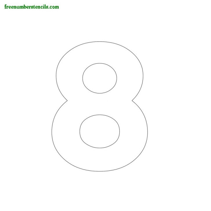 Free Printable 4 Inch Number Stencils