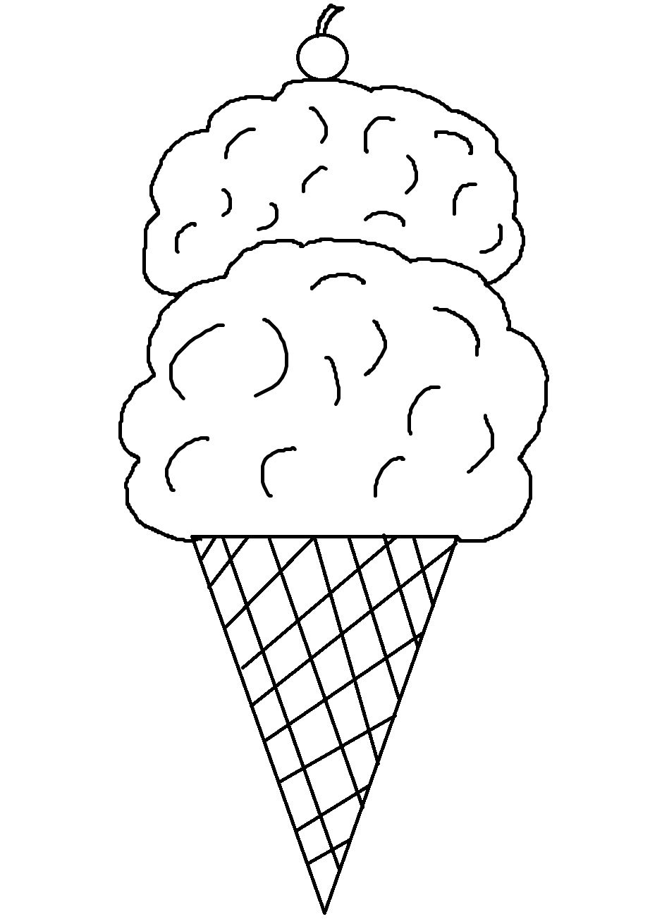 Modest Ice Cream Cone Coloring Page Best Ideas For You #30716 - Ice Cream Cone Template Free Printable