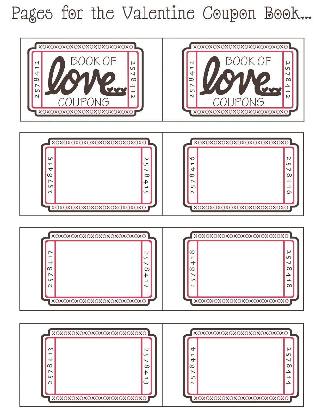 Mommyday Crafternight: {Free Printable} Valentine Coupon Book - Free Printable Valentine Books