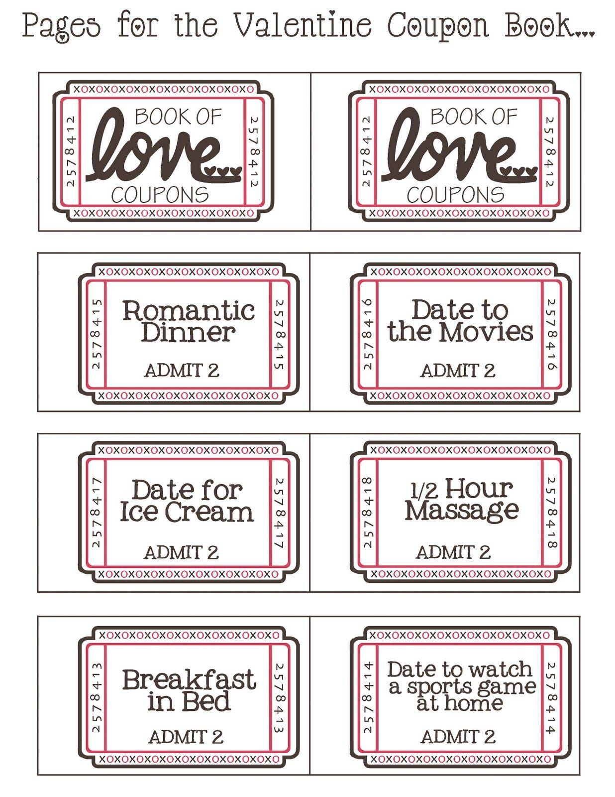Mommyday Crafternight: {Free Printable} Valentine Coupon - Free Printable Valentine Books