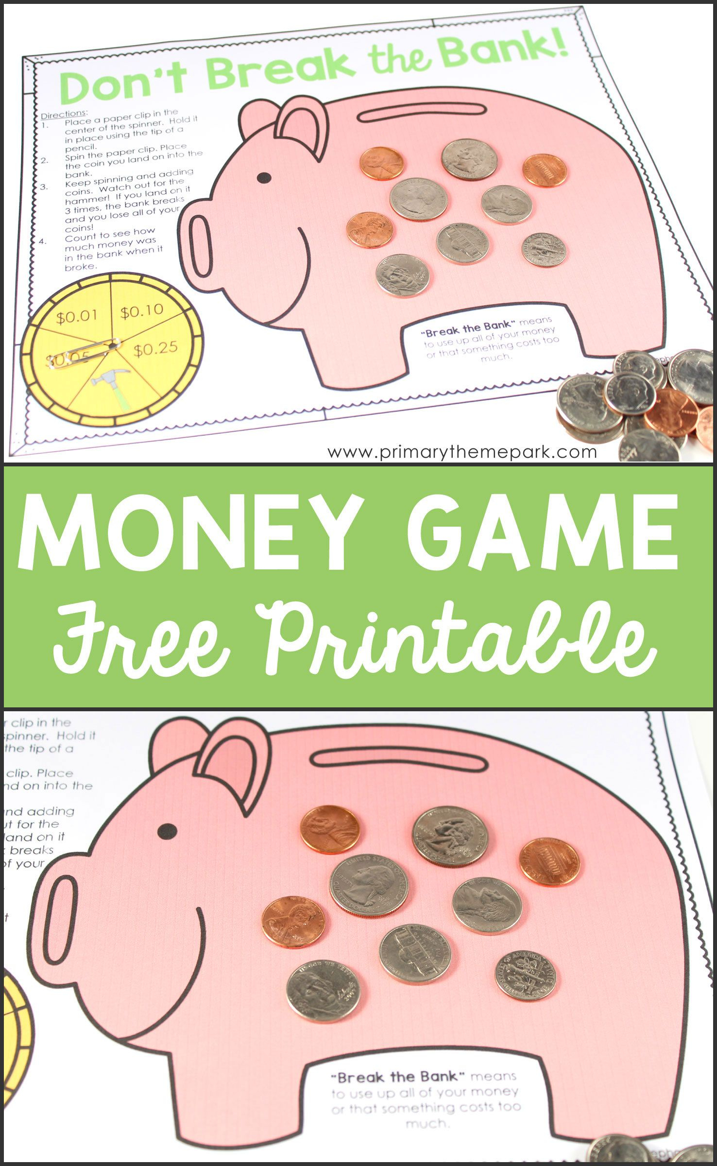 Money Activities For Second Grade | Math Activities For Kids | Money - Free Printable Game Money