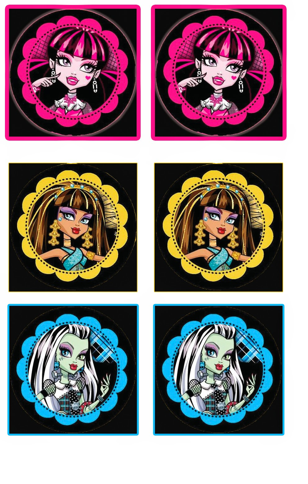 Monster High: Free Printable Cupcake Toppers And Wrappers. | Oh My - Monster High Cupcake Toppers Printable Free