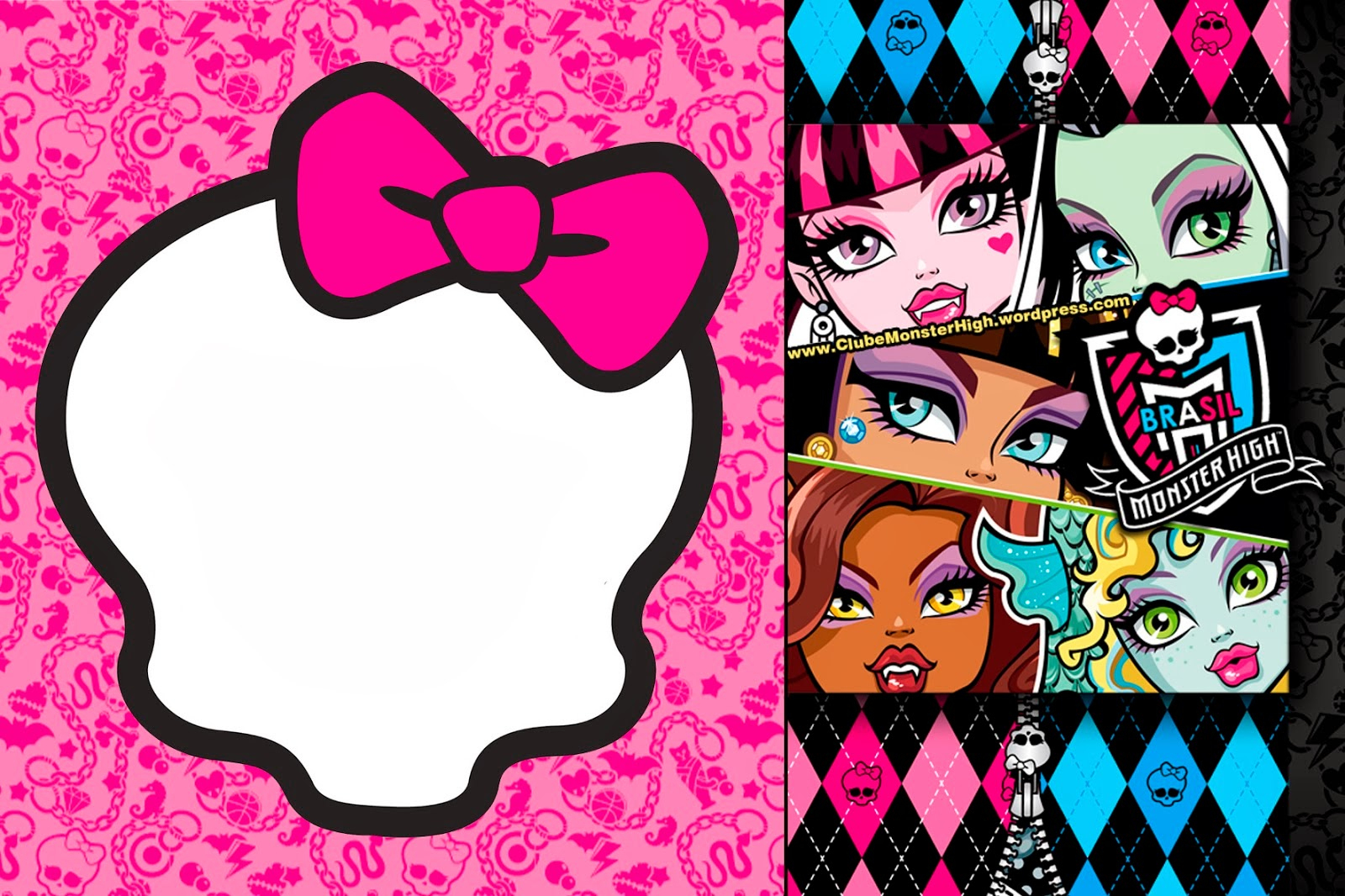 Monster High: Invitations And Party Free Printables. | Oh My Fiesta - Free Printable Monster High Stickers