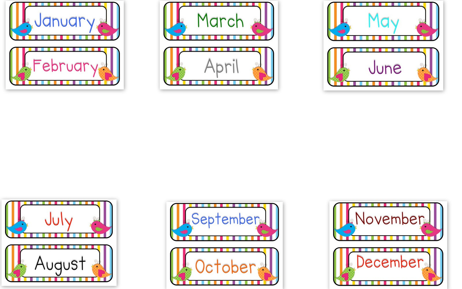 Month Of The Year Picture Library - Rr Collections - Free Printable Months Of The Year Labels