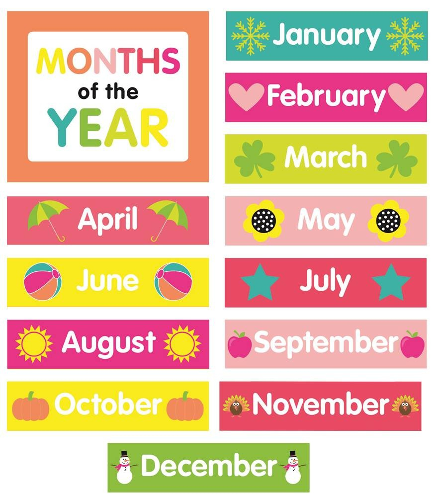 Months Of The Year Calendar Printables Just Teach Month Printable - Free Printable Months Of The Year Chart