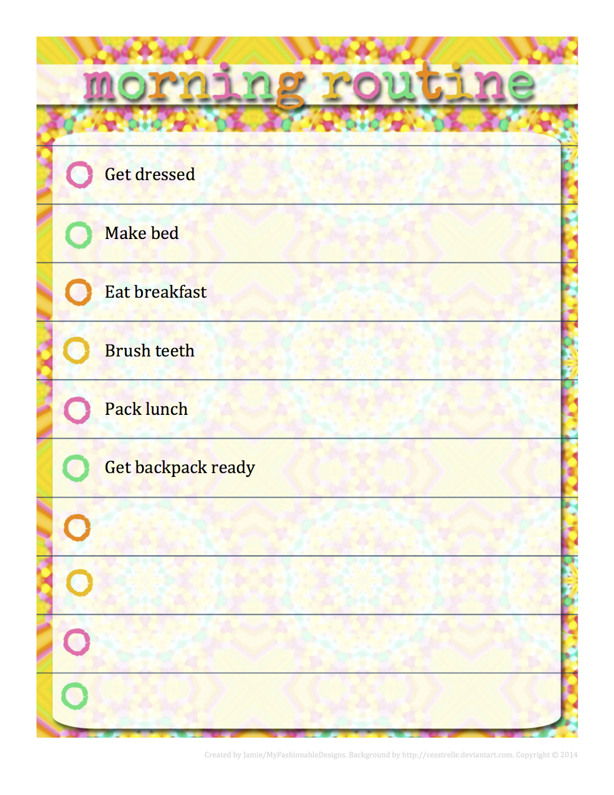 Morning Routine Chart - Free Download - Editable In Word!   Kids - Free Printable Morning Routine Chart