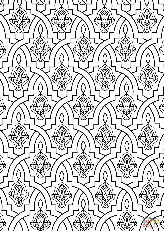 Moroccan Tile Coloring Page | Free Printable Coloring Pages - Free Printable Moroccan Pattern