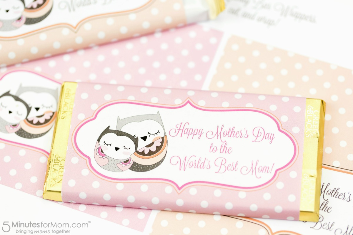 Mother's Day Candy Bar Wrapper Free Printable - Free Printable Hershey Bar Wrappers