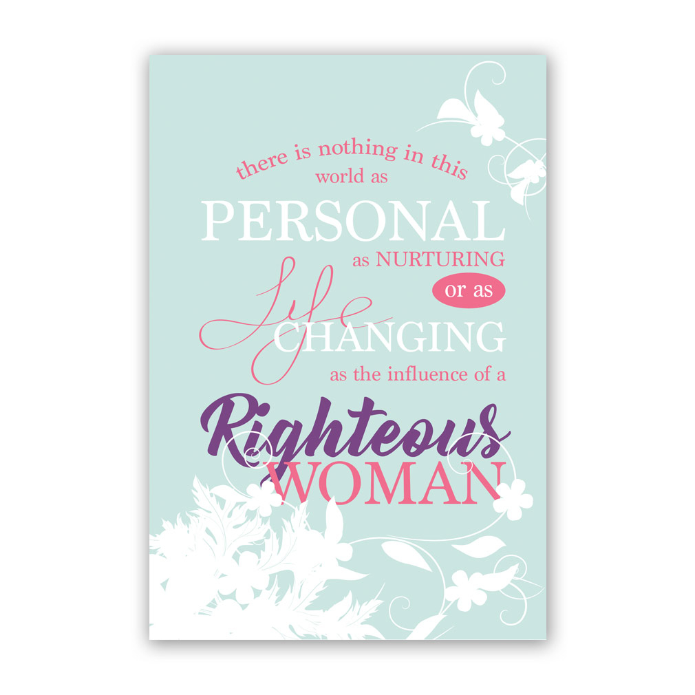 Mother's Day Card - Righteous Woman Printable In Free Lds Printables - Free Printable Mothers Day Cards No Download