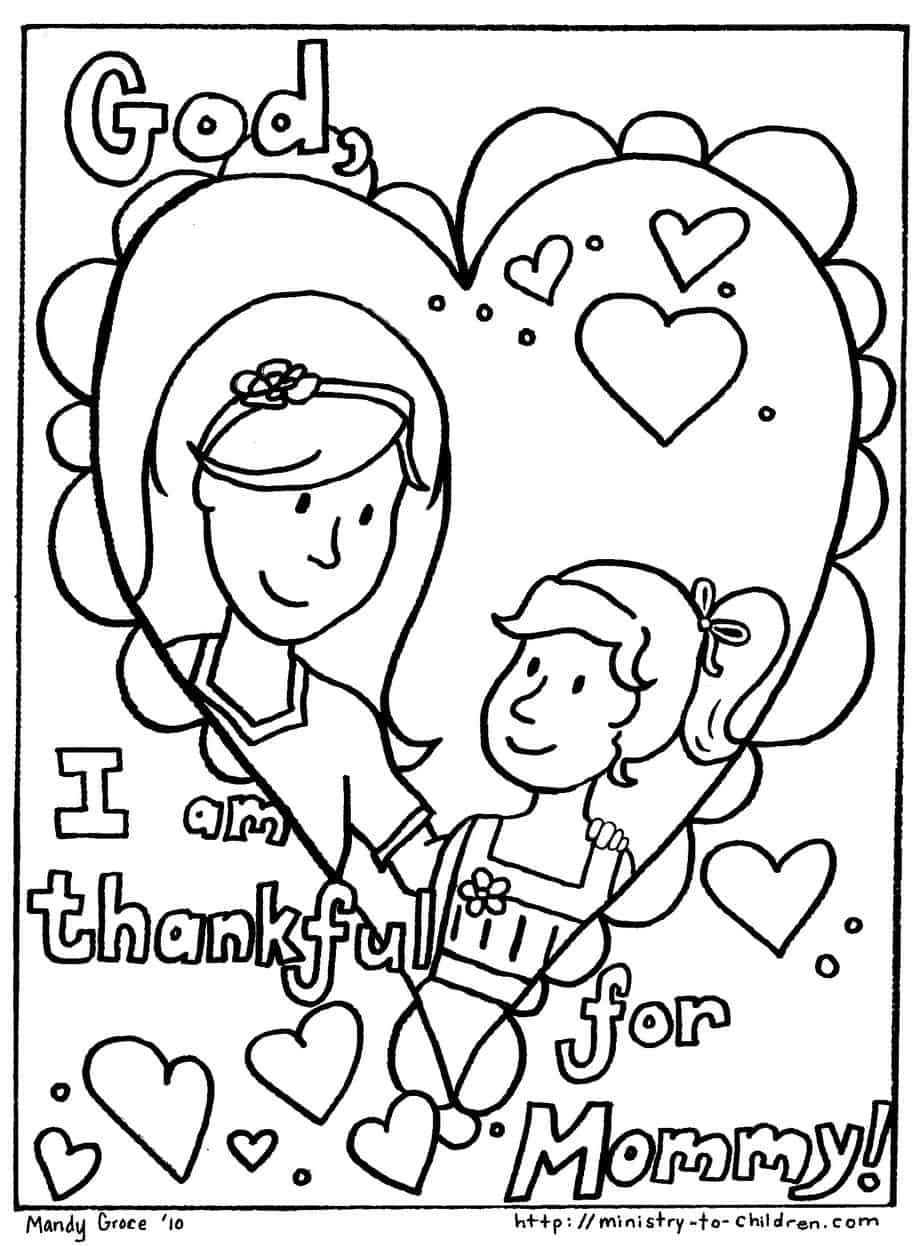 Mother's Day Coloring Pages - Free Printable Mothers Day Coloring Pages