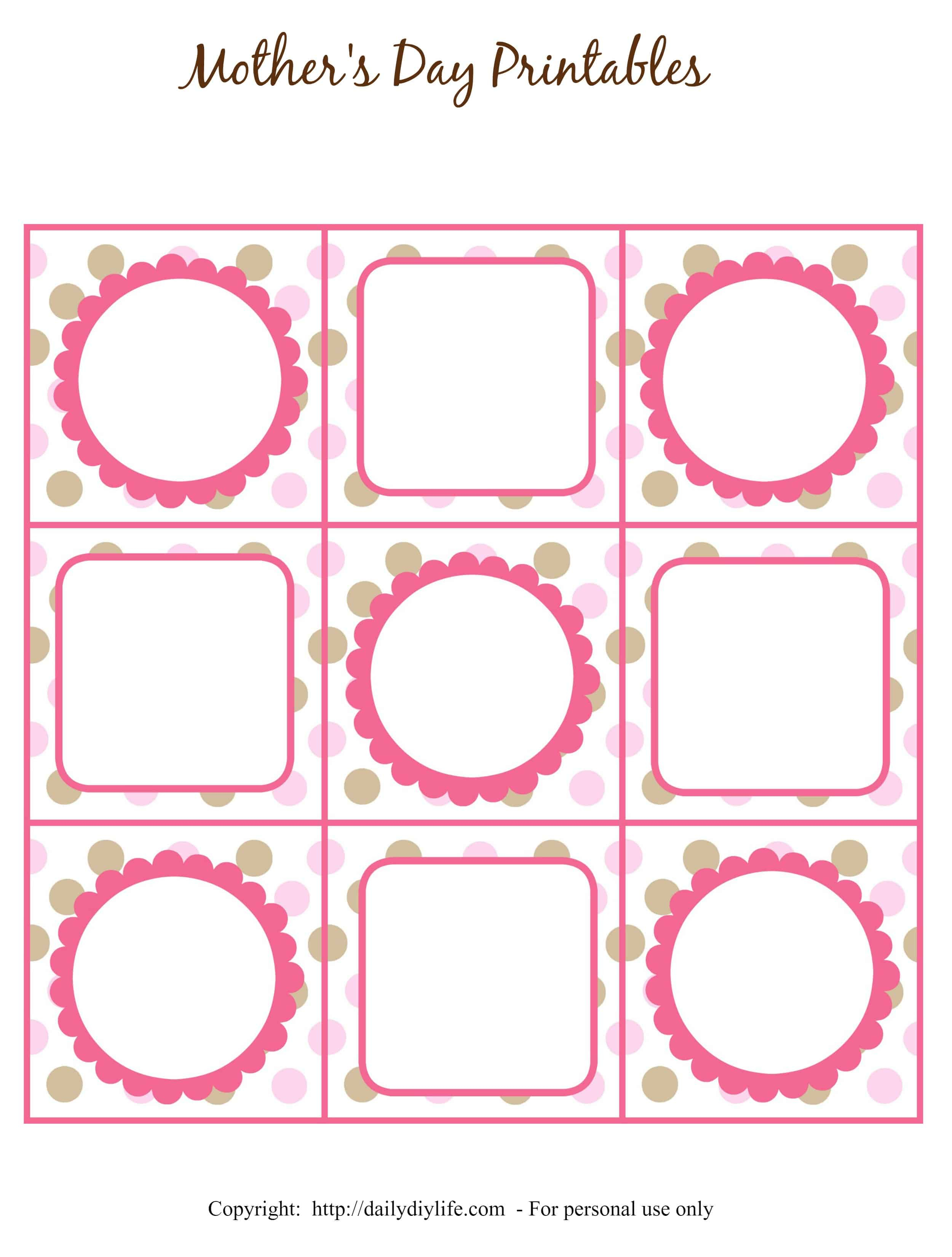 Mother's Day Free Printable Gift Tags Or Cupcake Toppers - Free Printable Blank Gift Tags
