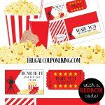 Movie Night Teacher Appreciation Gift With Free Printables   Free Popcorn Teacher Appreciation Printable