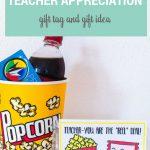 Movie Teacher Appreciation Ideas Free Printable Tag   Free Popcorn Teacher Appreciation Printable