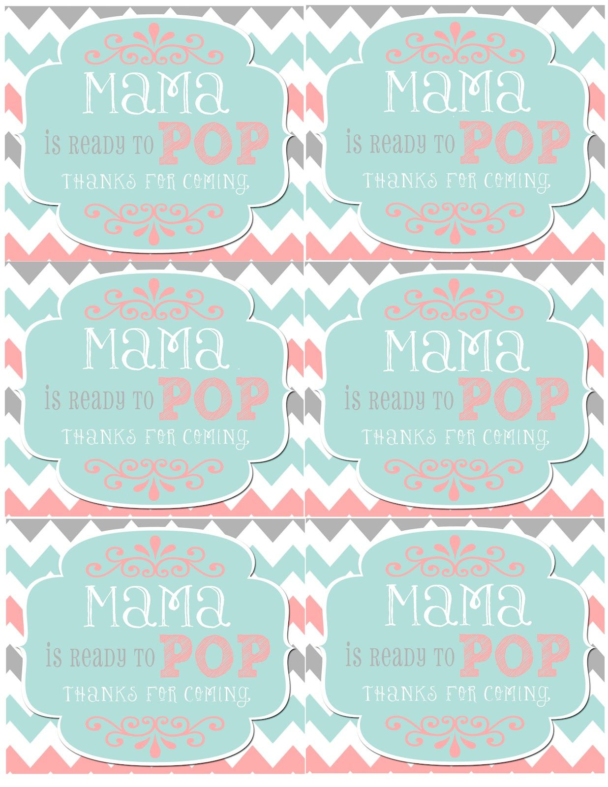 Mrs. This And That: Baby Shower, Banner, Free Downloads Yipee - Free Printable She's Ready To Pop Labels