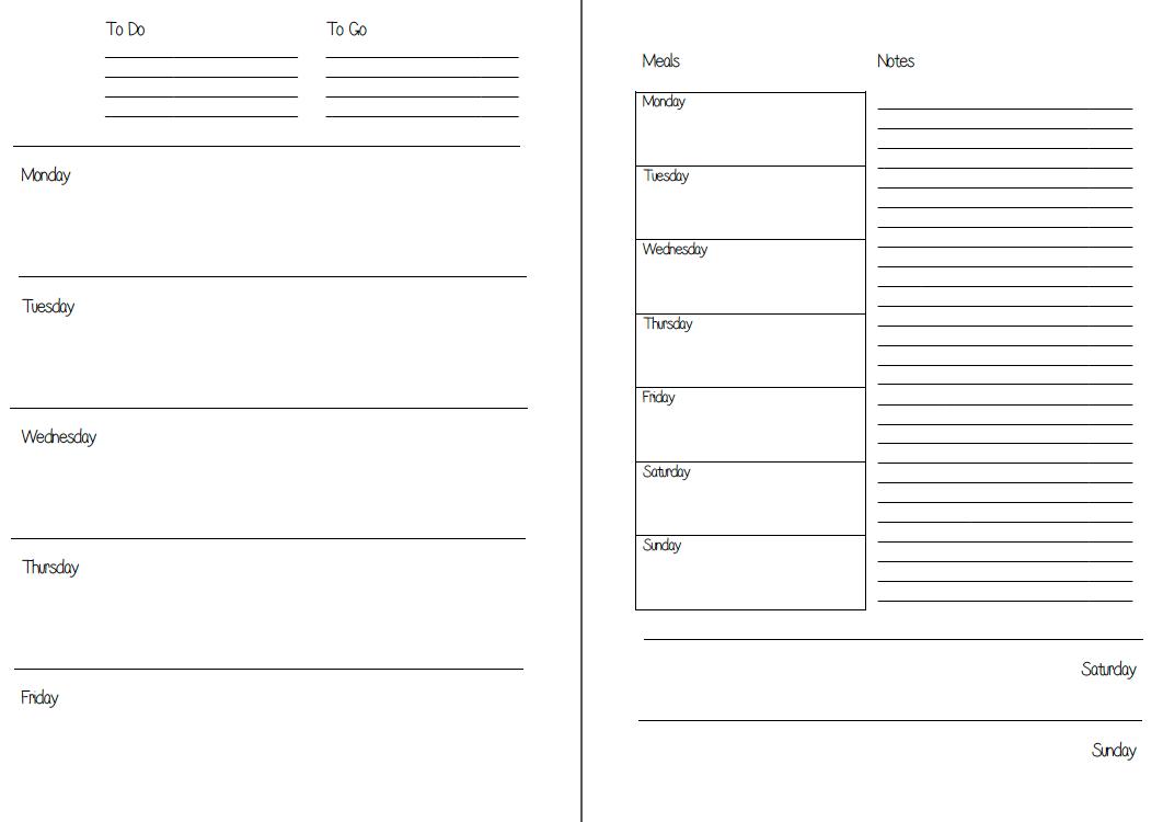 Mswenduhh Planning & Printable: Free Printable Inserts - Free Planner Refills Printable