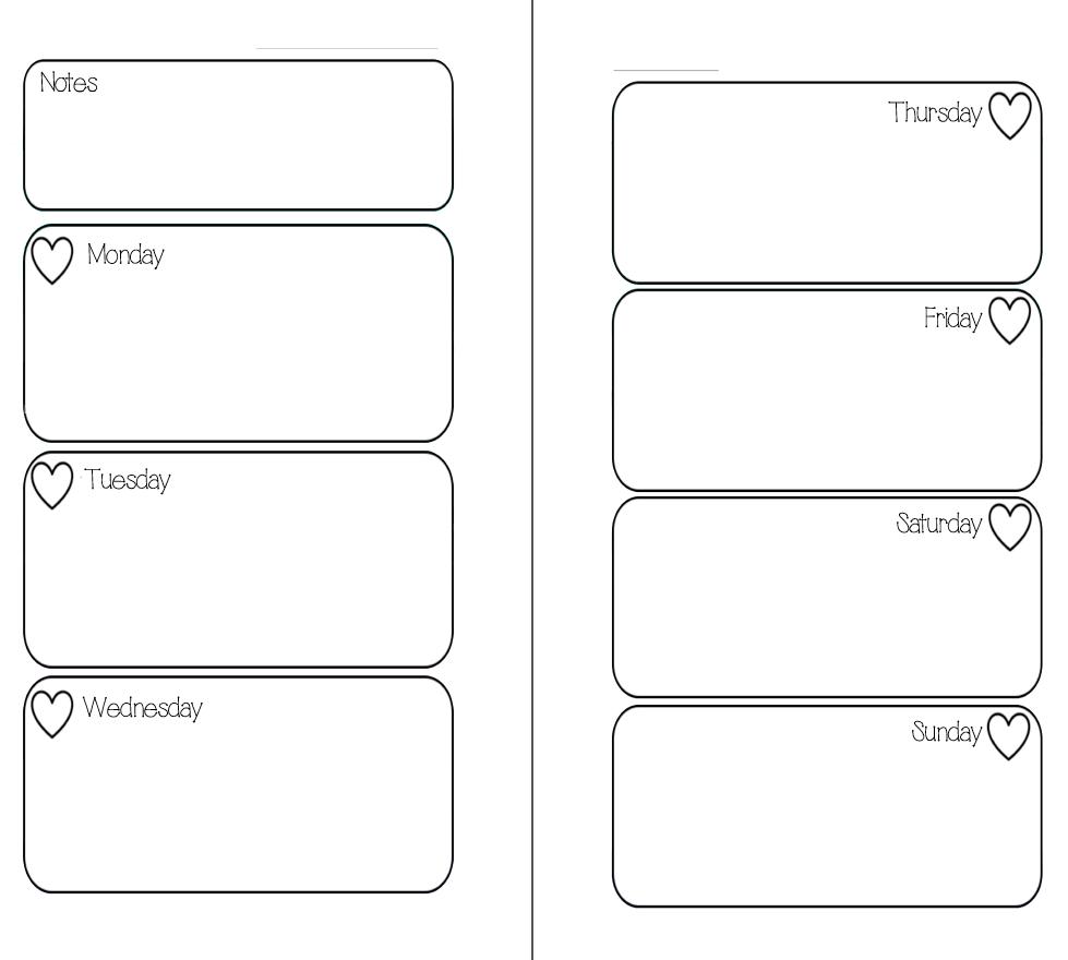 Mswenduhh Planning & Printable: Free Printable Inserts - Free Printable Planner Inserts