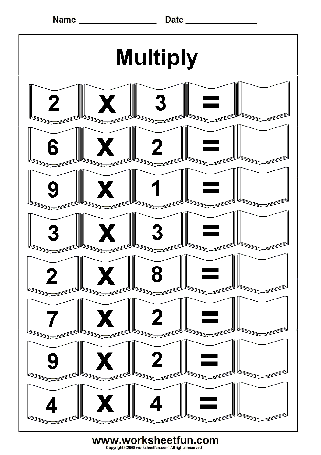 Multiplication – 5 Worksheets / Free Printable Worksheets – Worksheetfun - Free Printable Multiplication Sheets