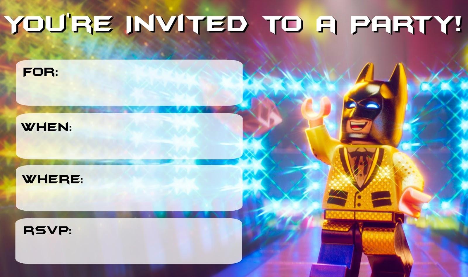 Musings Of An Average Mom Lego Batman Movie Party Invitations With - Lego Batman Invitations Free Printable