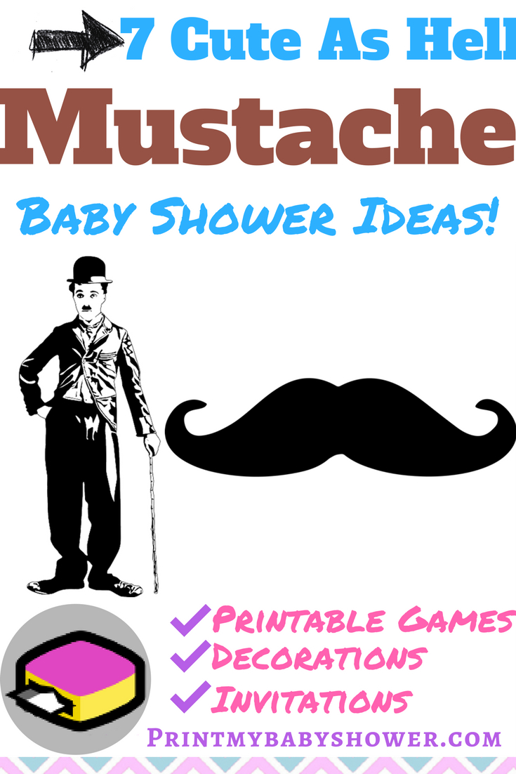Mustache Themed Baby Shower! - Name That Mustache Game Printable Free