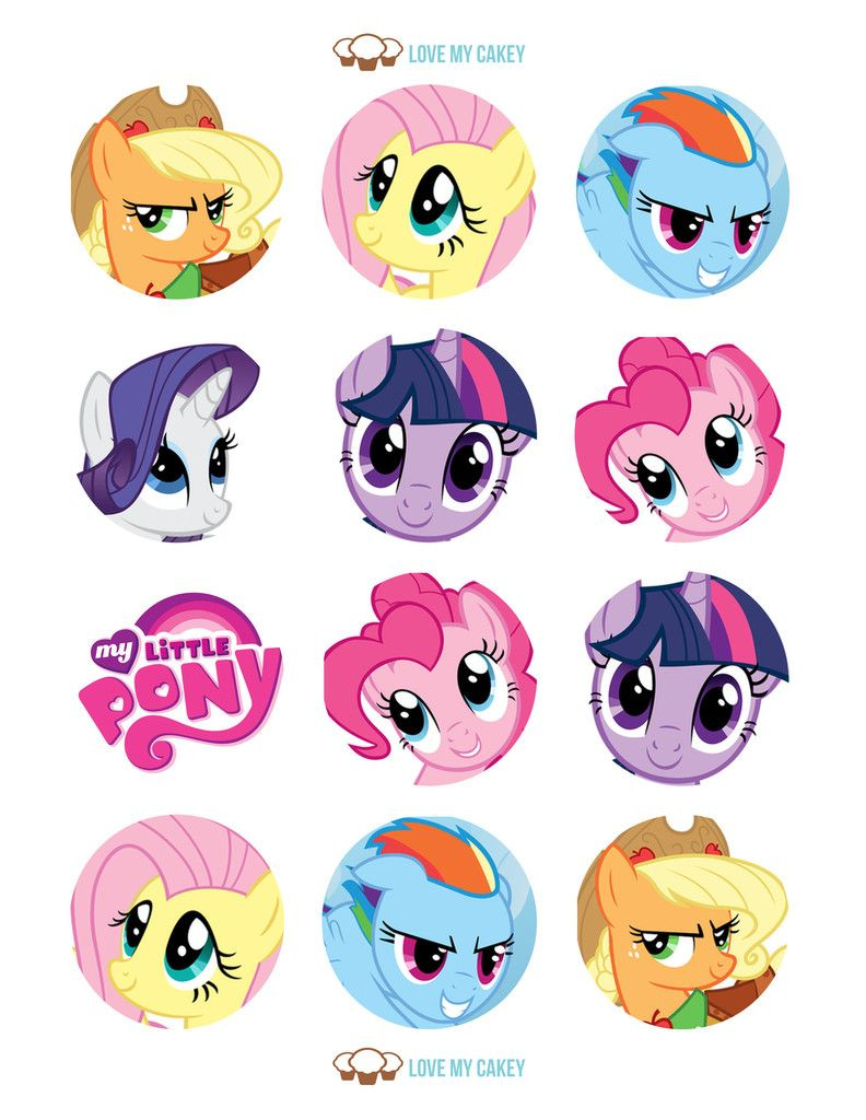My Little Pony Cupcake Toppers | Riley's First Birthday In 2019 | My - Free Printable My Little Pony Cupcake Toppers
