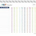 Nadia Helena: Freebie: Bill Payment Checklist | Planner Printables   Free Printable Monthly Bill Checklist