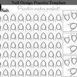Nail Art Design Practice Templates Or Sheets   All Versions | Black   Free Printable Nail Art Designs
