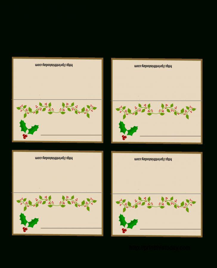 Christmas Table Name Cards Free Printable