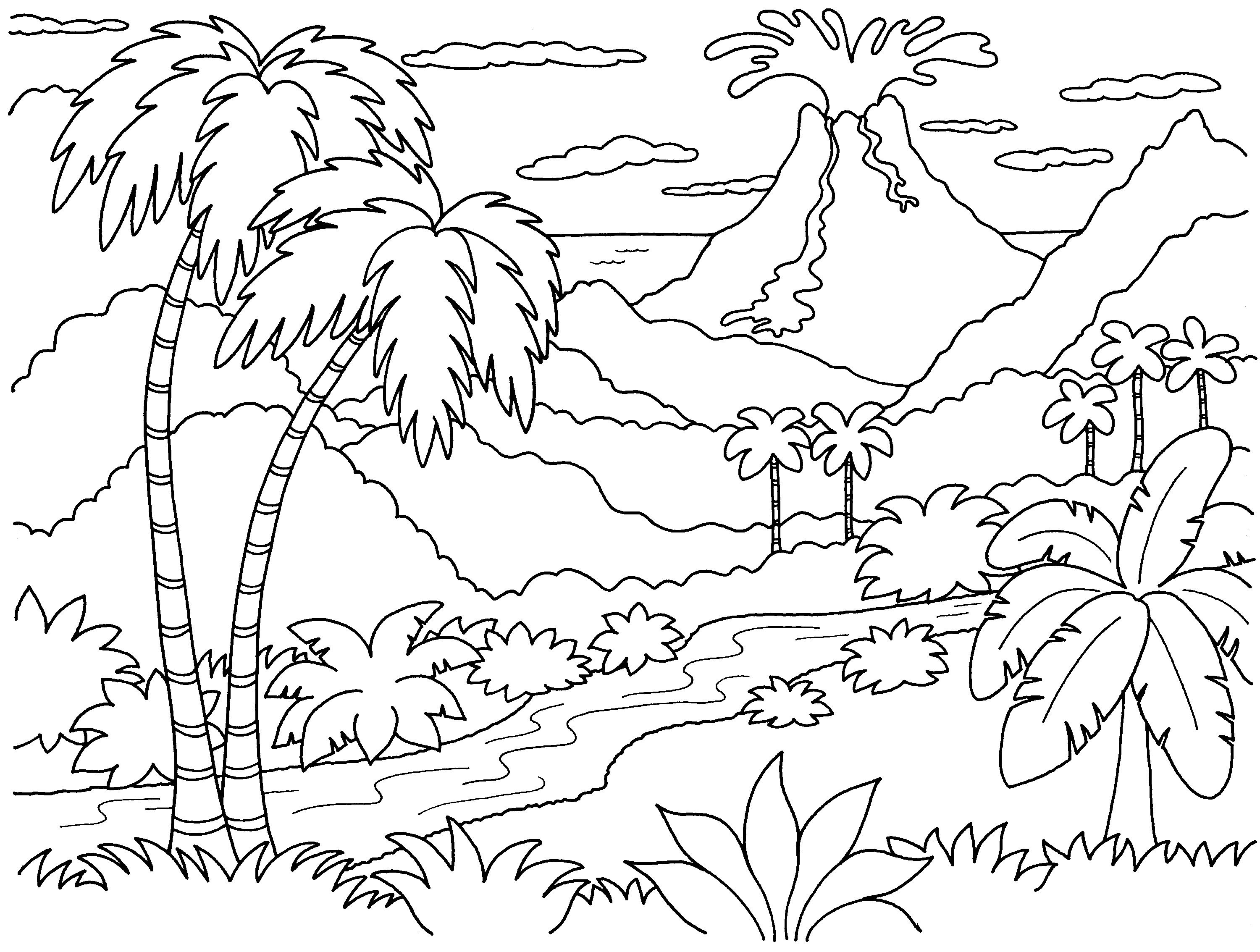Nature Island Coloring Pages   Print Coloring Pages - Best Island - Free Printable Nature Coloring Pages