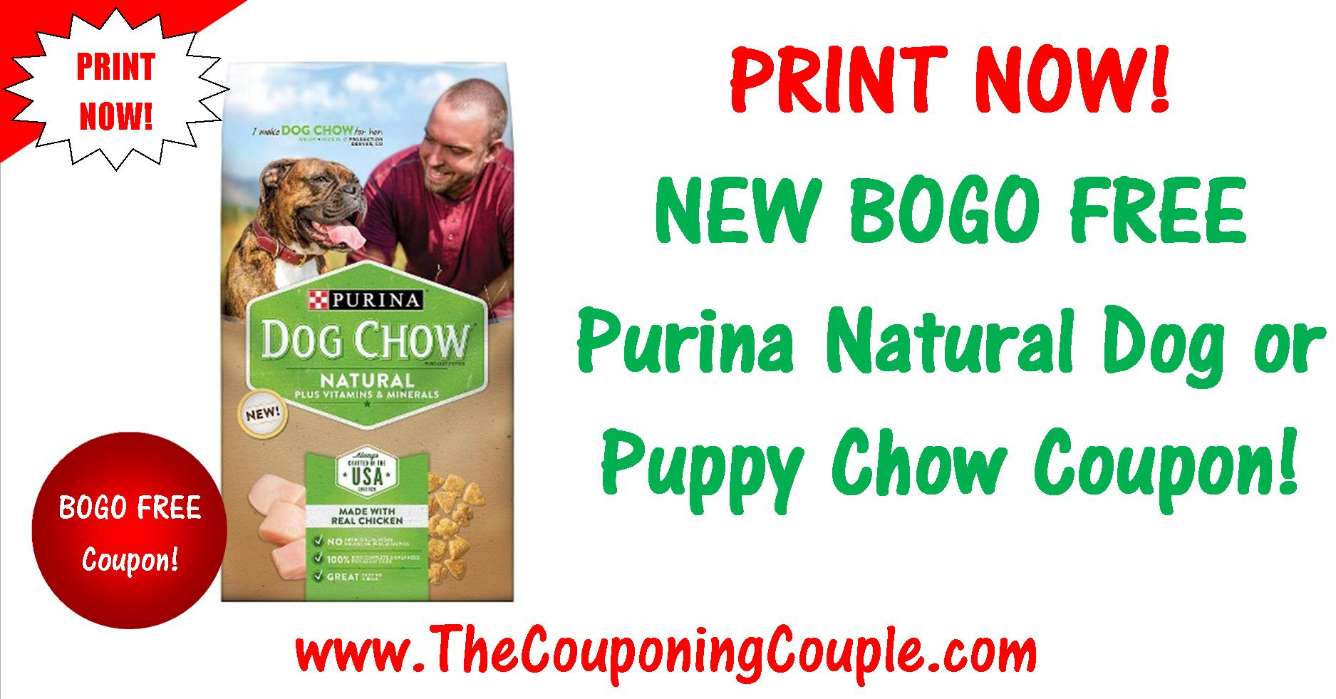 New Bogo Free Purina Natural Printable Coupon ~ Print Now! - Bogo Free Coupons Printable
