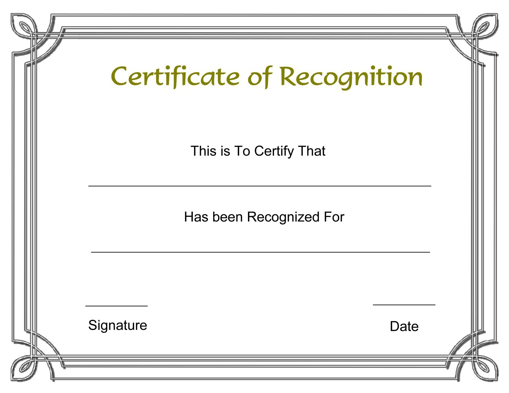 New Certificate Of Recognition Template | Www.pantry-Magic - Free Printable School Certificates Templates