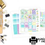 New Free Printable Weekly Sticker Kit  Mermaids!   Planning Inspired   Printable Erin Condren Stickers Free