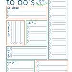 New Home To Do List   Free Printable   Sunshine And Rainy Days   To Do List Free Printable