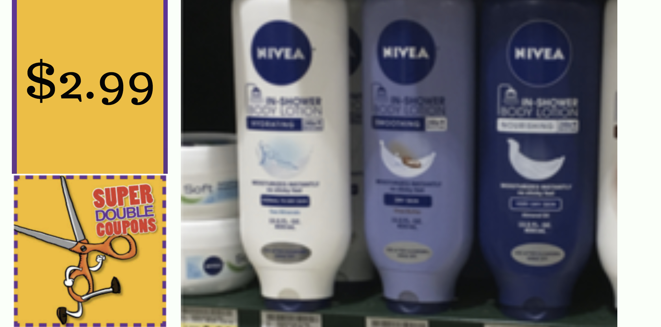 New Nivea In Shower Lotion Coupon + Super Doubles Deal - Moola - Free Printable Nivea Coupons