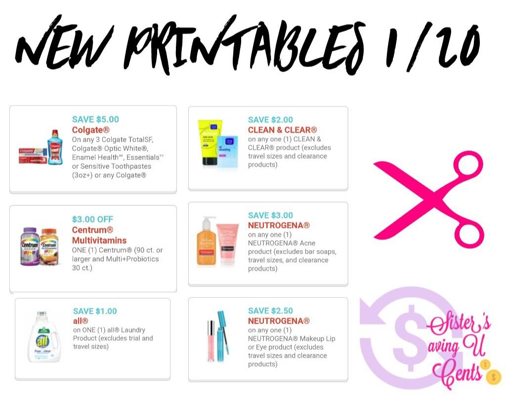 New Printable Coupons 1/20!! - Acne Free Coupons Printable