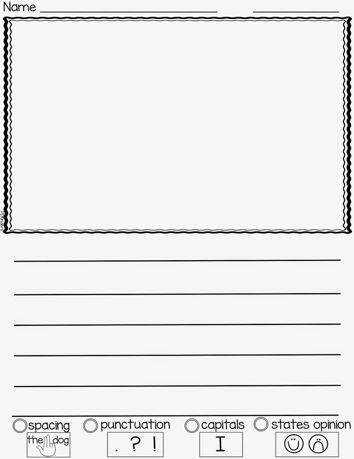 New Printable Lined Paper For Kids | Chart And Template World - Free Printable Kindergarten Lined Paper Template