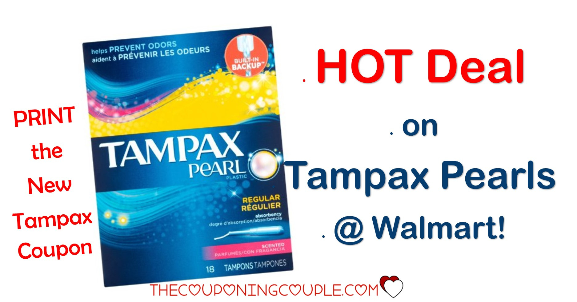 New Tampax Coupon = Hot Deal On Tampax Pearls @ Walmart! Only $2.47! - Free Printable Food Coupons For Walmart