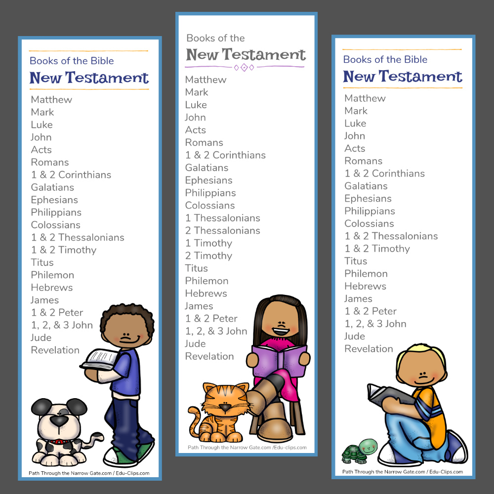 New Testament Bible Bookmarks - Path Through The Narrow Gate - Books Of The Bible Bookmark Printable Free