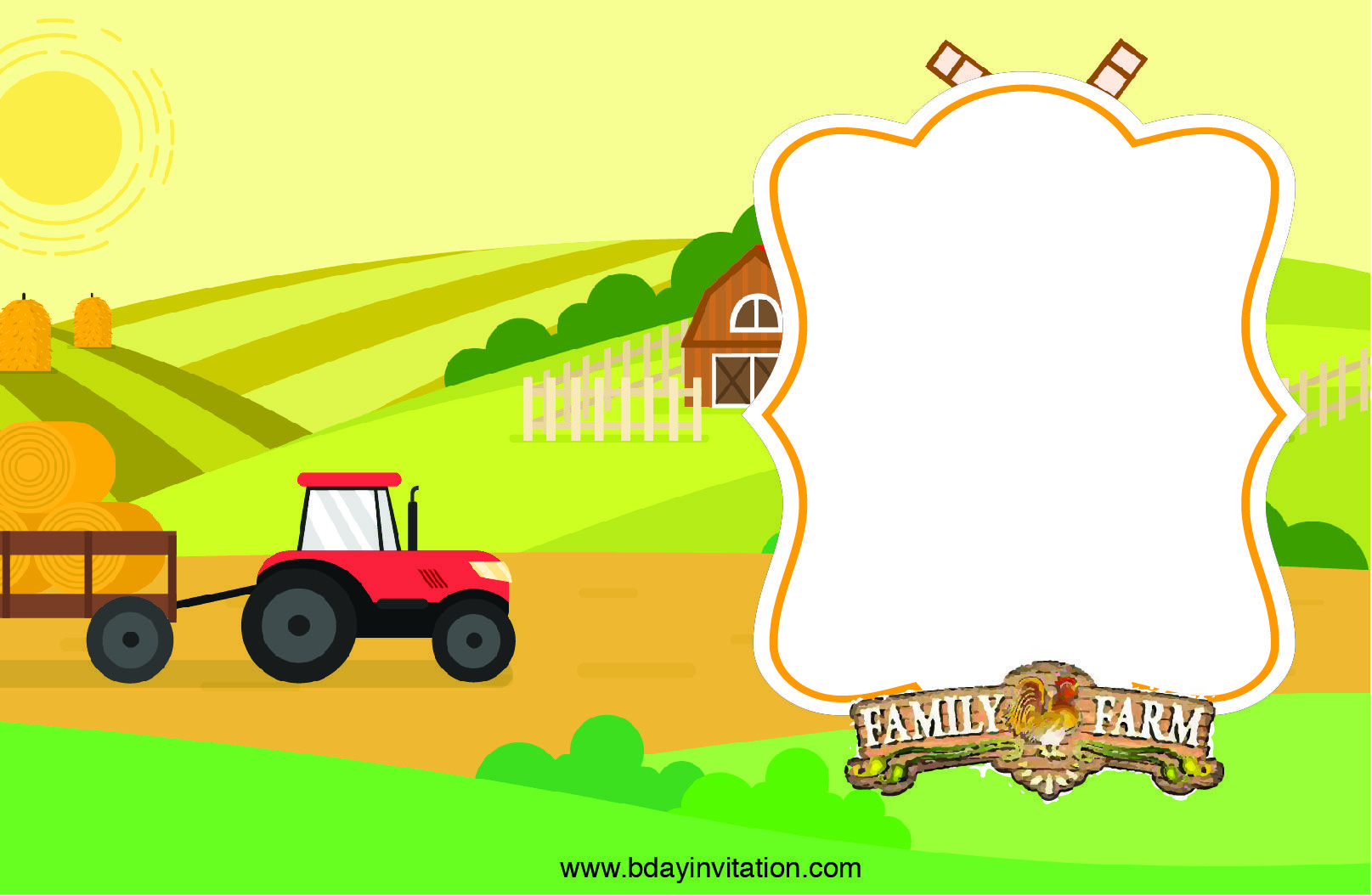 Nice Free Printable Farm Birthday Invitation Template | Free - Free Printable Farm Birthday Invitations