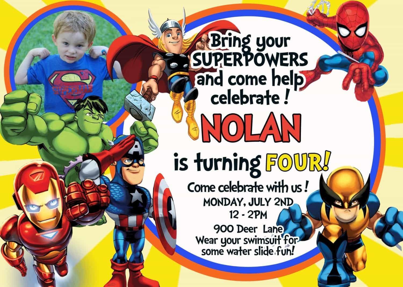 Nice Tips For Choosing Avengers Birthday Invitations Free | Noah's - Avengers Party Invitations Printable Free