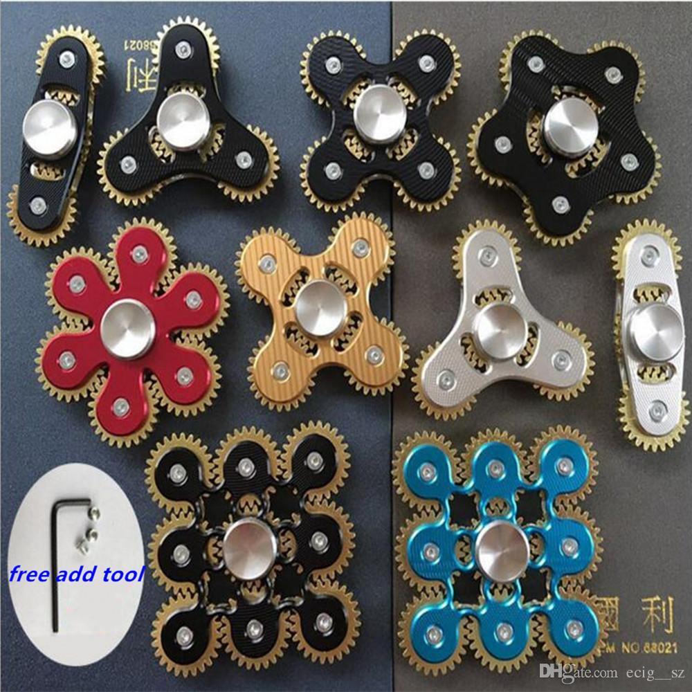 Nine 9 Gears Skull Hand Spinner Metal Fantastic Edc Hand Spinner - Free Printable Gears