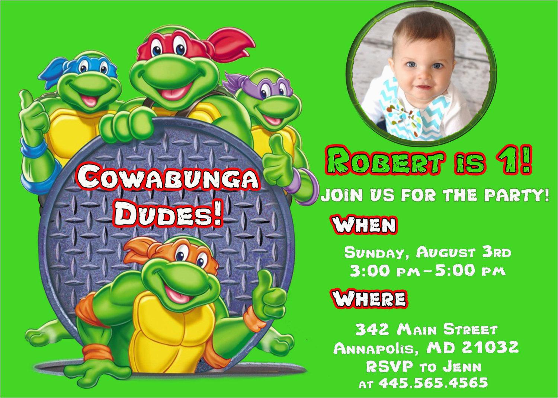 Ninja Turtles Birthday Invites Free Printable Ninja Turtle Birthday - Free Printable Tmnt Birthday Party Invitations