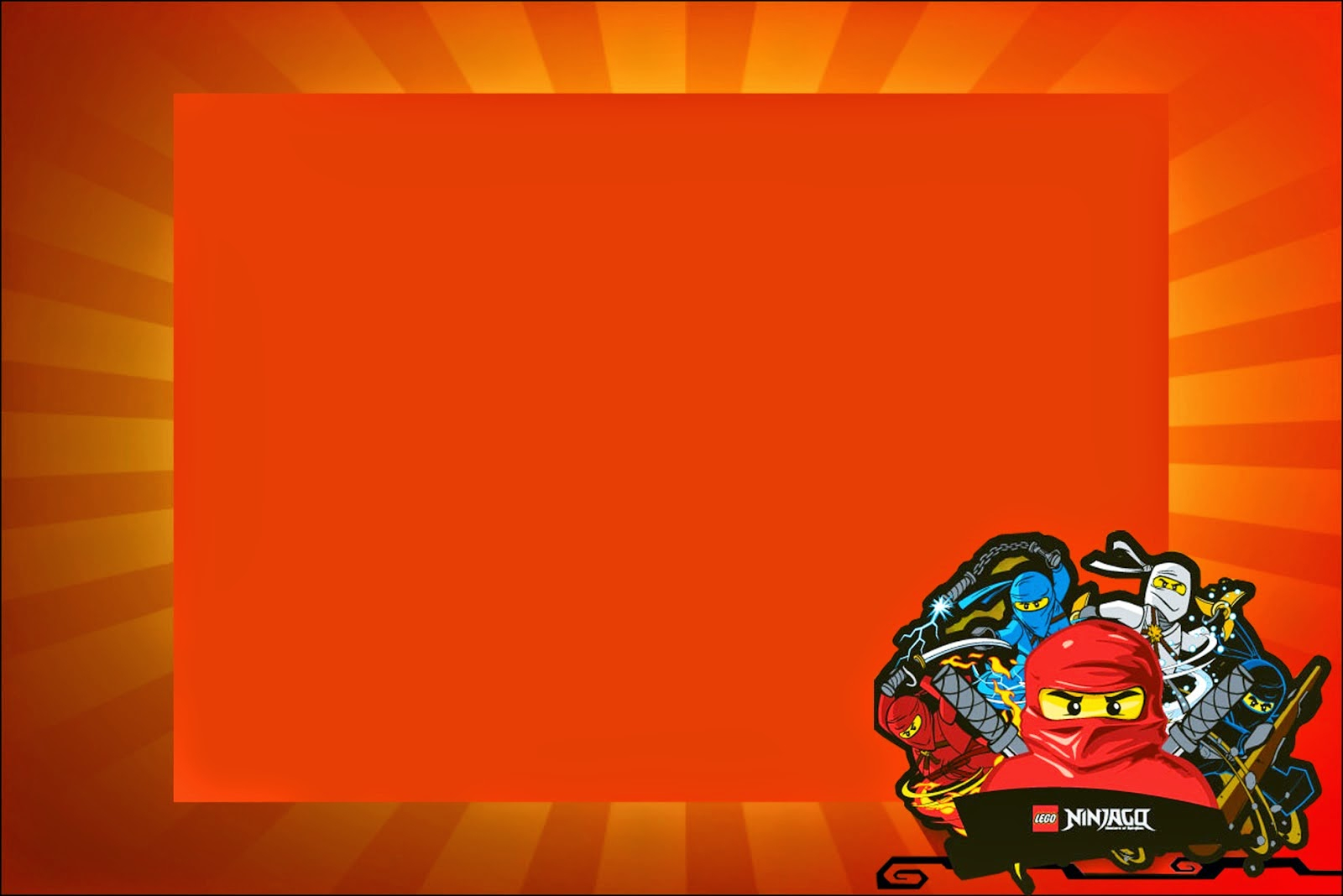 Ninjago: Free Printable Invitations. - Oh My Fiesta! For Geeks - Lego Ninjago Party Invitations Printable Free