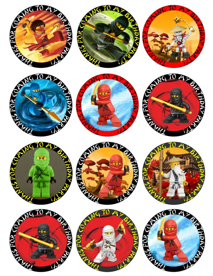 Free Printable Lego Cupcake Toppers