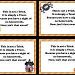 No Homework Pass Template Free Printable   9.4.kaartenstemp.nl •   Free Printable Halloween Homework Pass