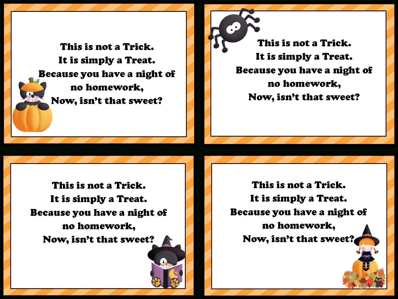 No Homework Pass Template Free Printable - 9.4.kaartenstemp.nl • - Free Printable Halloween Homework Pass