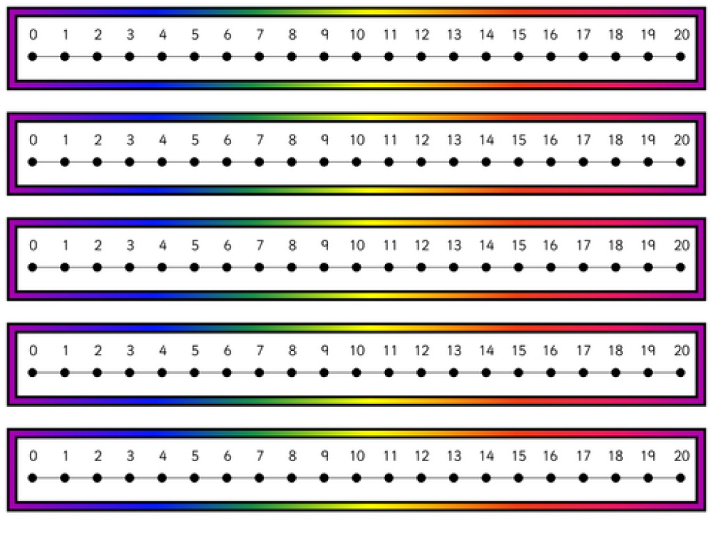 Number Line 1 To 20 Graphic Transparent Library - Techflourish With - Free Printable Number Line 0 20